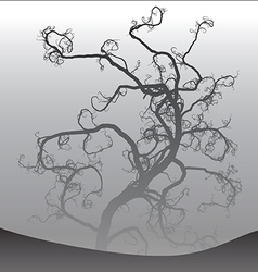 Scary tree in fog 2 vector image