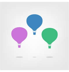 Air balloon isolated on a light background vector