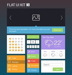 Flat User Interface Kit for web and mobile 3 vector image