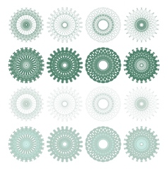 High quality rossete elements vector