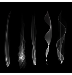Smoke background  steam isgenerated vector