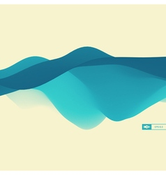 3D Wavy Background Dynamic Effect Design vector image vector image