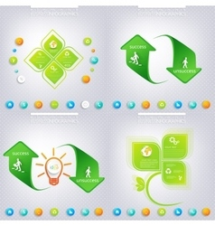 Modern green infographic design  business concept vector
