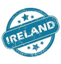 Ireland round stamp vector