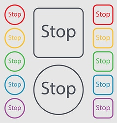 Traffic stop sign icon caution symbol symbols on vector