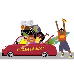 Spring break road trip vector