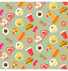 Food pattern 2 vector