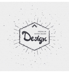 Designer - Insignia sticker can be used as a vector image