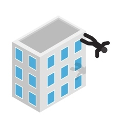 Suicide icon isometric 3d style vector image