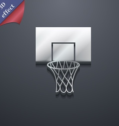 Basketball backboard icon symbol 3d style trendy vector