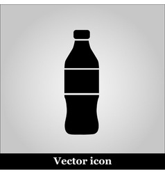 Bottle icon on grey background vector