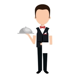 Hotel worker avatar isolated icon vector