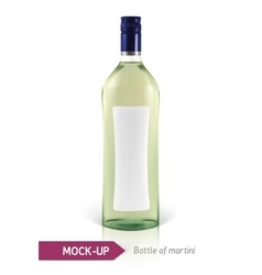 Mockup martini bottle vector