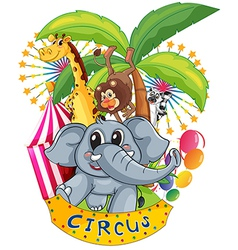 Animals in the circus vector