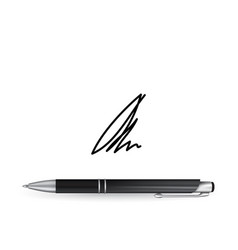 ball pen ans signature vector image vector image