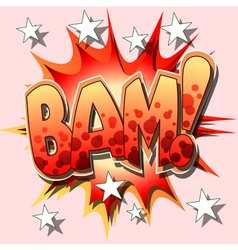 bam cartoon vector image