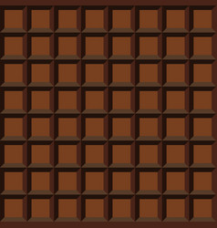brown chocolate table seamless pattern vector image