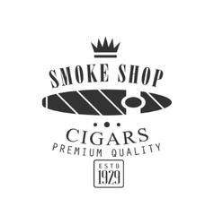 Cigar smoke shop premium quality smoking club vector