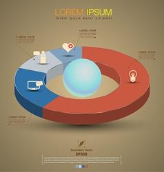 Circle pie graph vector