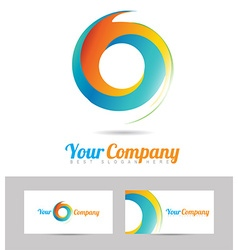 Corporate business logo vector image