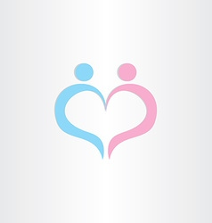couple boy and girl heart love symbol vector image vector image