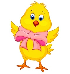 Cute baby chicken cartoon vector image vector image