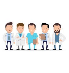 doctor medical worker paramedic vector image