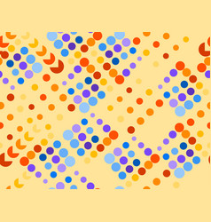 dotted seamless pattern chaotic points vector image