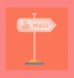 Flat shading style icon mall sign vector