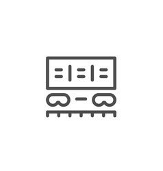 freight wagon line icon vector image