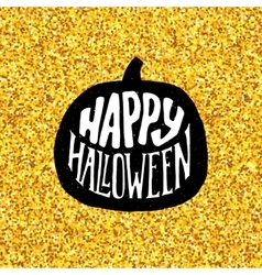 Happy Halloween Party banner with gold typography vector image vector image