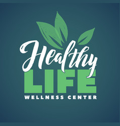 Health life wellness center logo stroke vector