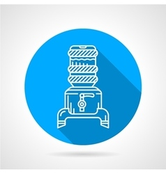 Modern water cooler blue round icon vector image