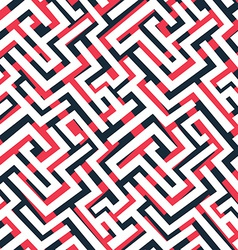 red maze pattern vector image