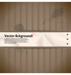 Retro Background with Crumpled Paper vector image