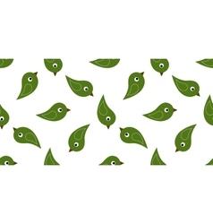 Seamless green birds vector