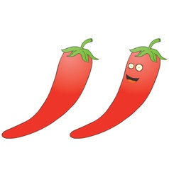 Smiling chilli pepper vector