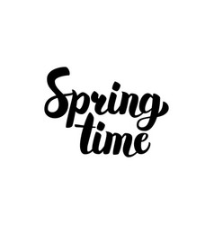 spring time handwritten calligraphy vector image vector image