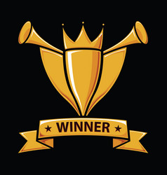 winners trophy award vector image vector image