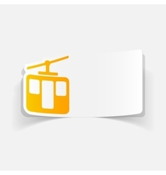 Realistic design element funicular vector