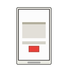 Modern cellphone with document on screen icon vector
