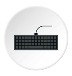 Keyboard icon flat style vector