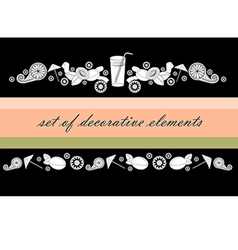 A straw apricots and abstract flowers vector