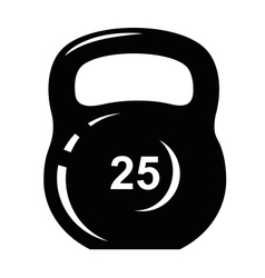 Kettlebell icon vector