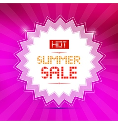 Hot summer sale title on pink background vector
