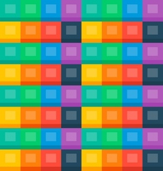 Flat boxes seamless background vector