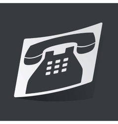Monochrome phone sticker vector