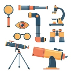 Optical tools collection isolated vector