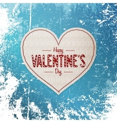 Valentines day realistic heart textile banner vector