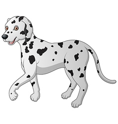 Cartoon of a dalmatian walking vector